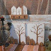 Панно и ключница для прихожей в скандинавском стиле – купить или заказать в интернет-магазине на Ярмарке Мастеров | Ключница и панно для интерьера прихожей.