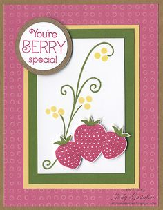 A Berry Special card using the Taste of Summer stamp set.