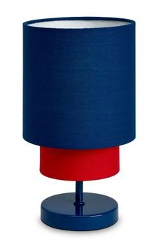 2 Tier Red And Blue Lamp From Next