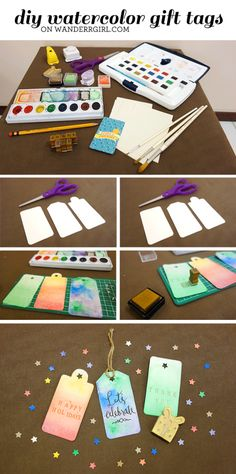DIY Tutorial: Watercolor Gift Tags – for Christmas and beyond