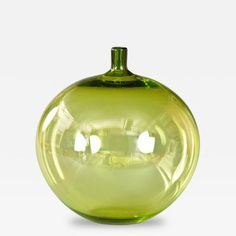 A Swedish Glass Apple Vase by Ingeborg  Lundin