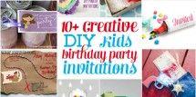 DIY kids birthday party invites