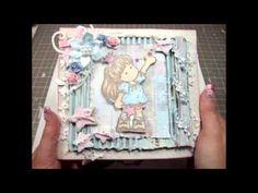 Shabby Chic Easel Drawer Card & Mini Album