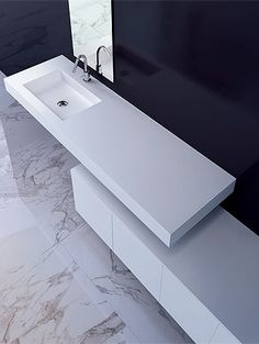 Unit Cube Bathroom Vanity -- gorgeous lines but a little too sterile for me