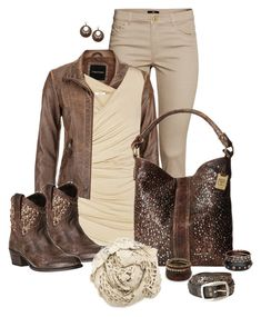 """""""set"""" by vesper1977 ❤ liked on Polyvore featuring H&M, maurices, Bailey 44, Frye and 1928"""
