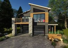 small house design for india with nashville modern tiny house with house paint grey for house plans for entertaining - Best Home Interior Design Modern Garage, Modern Tiny House, Contemporary House Plans, Modern House Plans, Small House Plans, House Floor Plans, Modern Homes, Southern Living, Small Apartment Plans