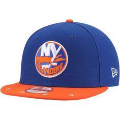e444a0bd7a4 New York Islanders New Era Star Trim Commemorative Championship 9FIFTY  Snapback Adjustable Hat - Royal Orange