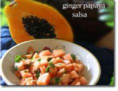 ginger papaya salsa. I bet this will be great for mahi mahi or salmon