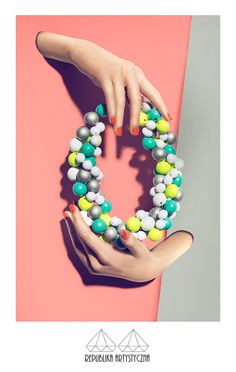 Circles and lines- neon by Republikashop on Etsy