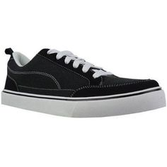 Faded Glory Men's Canvas Skate Shoe, Size: 10, Black