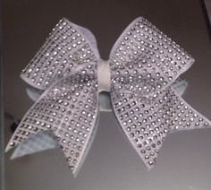 Crystal style cheer bow by buttonsbagsnbows on Etsy https://www.etsy.com/listing/253845747/crystal-style-cheer-bow