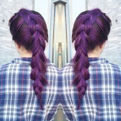 My purple babe  #revloncolor #revlon #braid #longhair #hairinspo #hair #girl #twin #hairdresser