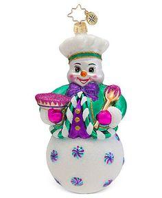 Christopher Radko Christmas Ornament, Brrrr-Baker! - Holiday Lane - Macy's