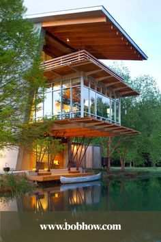Best Ideas For Modern House Design & Architecture : – Picture : – Description The Pond House at Ten Oaks Farm: Angled Sustainable and Energy-Efficient House in Louisiana Beautiful Architecture, Interior Architecture, Landscape Architecture, Contemporary Architecture, Sustainable Architecture, Architecture Definition, Sketch Architecture, Baroque Architecture, Chinese Architecture