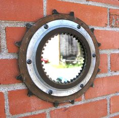 Industrial wall mirror, junk auto parts, men's gift, home office decor– PaulaArt Industrial Wall Mirrors, Home Office Decor, Home Decor, Round Mirrors, Deep Cleaning, Brown And Grey, Flat, Beautiful, Easy
