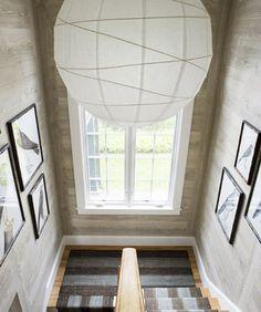 Tom Scheerer, white washed wood paneled walls