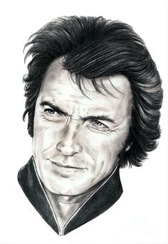 Clint Eastwood by Murphy Elliott ~ traditional pencil art