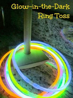 Play glow-in-the-dark ring toss this new year's eve:: pinning with purpose.New Year's Eve game New Years With Kids, Kids New Years Eve, New Years Party, New Years Eve Games, New Years Activities, Holiday Activities, Fun Activities, Nye Party, Glow Party