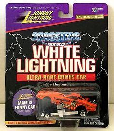 Rare! Johnny Lightning White Lightning Funny Car Dragsters Usa Playing Mantis