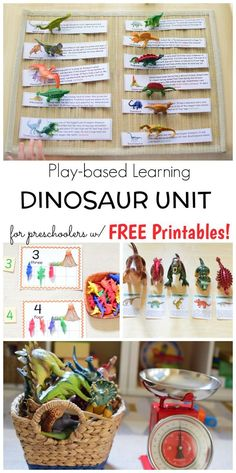 Play-based Dinosaur Activities for Preschoolers Dinosaur Classroom, Dinosaur Theme Preschool, Dinosaur Printables, Preschool Themes, Preschool Science, Preschool Crafts, Free Printables, Dinosaur Dinosaur, Dinosaur Activities For Preschool