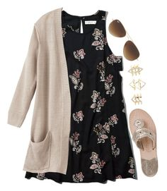 I'm just in a dress mood  by madelyn-abigail on Polyvore featuring Abercrombie & Fitch, Jack Rogers, Charlotte Russe and Ray-Ban