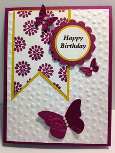 Flower Patch, Birthday Card, Stampin' Up!, Rubber Stamping, Handmade Cards