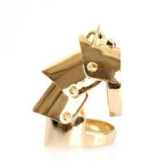 Vivienne Westwood Armour Ring Gold | GarmentQuarter