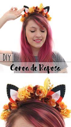 DIY   Como fazer coroa de flores da Raposa - Especial de Carnaval