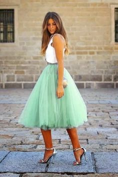 TopVintage Boutique Collection 50s Jocelyn Mint Green Tutu Fairytale Skirt 122 40 18928 3