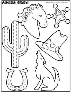 cowboy coloring pages for children | Cowboy color page, coloring pages, color plate, coloring sheet ...