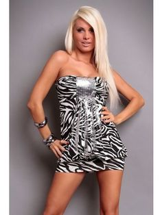 Vivacious Strapless Leopard Print Club Dress with Sequins Decoration Sleeveless Dresses, Club Dresses, Sequins, Decoration, Skirts, Fashion, Decor, Moda, Skirt