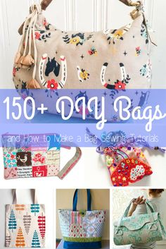 DIY Bags and How to Make a Bag Sewing Tutorials Do you know how to sew a bag? If not, we've got DIY Bags and How to Make a Bag Sewing Tutorials for you to try out! Bags and purses can be expens Sewing Patterns Free, Free Sewing, Free Pattern, Pattern Sewing, Diy Purse Patterns, Hobo Bag Patterns, Sewing Hacks, Sewing Tutorials, Sewing Tips