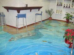 Наливные полы 3д. . Наливные полы с рисунком, наливные полы 3D