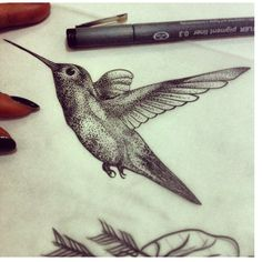 Hummingbird. Inside arm, fate? Quite possibly