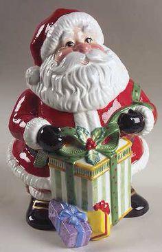 Fitz & Floyd Happy Holidays Cookie Jar