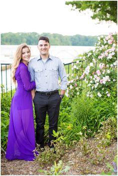 Golden Hour Engagement Session | Purple Dress | Fredericksburg, Virginia | Hope Taylor Photography