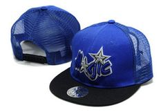 Mitchell & Ness NBA Orlando Magic Blue Black Snapbacks536 Stylish