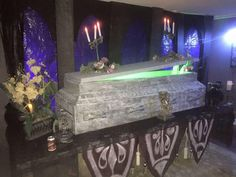 wonderful Haunted Mansion scene from Sandie Schneider's Halloween party 2015. Check out her video~it's to die for!!!