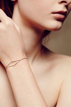 Diamond Monogram Bracelet In 14k Rose Gold - #anthroregistry