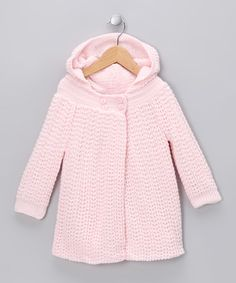 Look at this #zulilyfind! Pink Cardigan - Infant by Tots Fifth Avenue #zulilyfinds