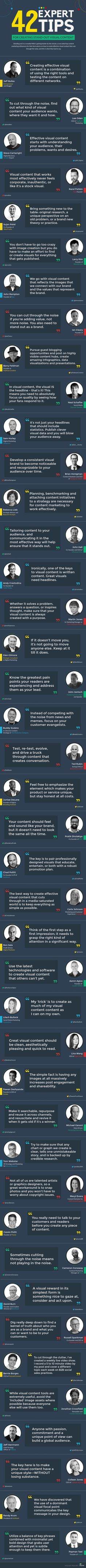 42 Experts Tips for Creating Stand-Out Visual Content [E-Book & Infographic]