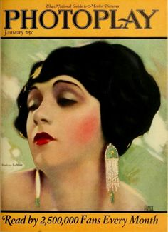 Barbara LaMarr on the cover of Photoplay Magazine, January 1934.