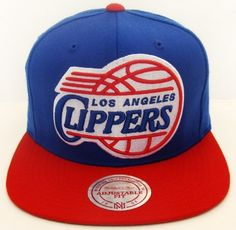 d4e85dd743c Los Angeles Clippers XL Logo Mitchell   Ness Snapback Cap Hat Blue Red by  Mitchell