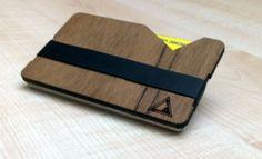 Portafoglio in legno, portatessere, design moderno