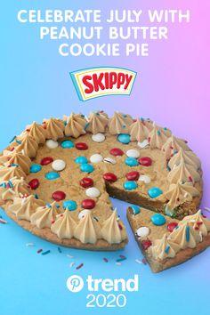 Cookie Pie, Cookie Desserts, Just Desserts, Cookie Recipes, Delicious Desserts, Dessert Recipes, Yummy Food, Cookie Cakes, Yummy Treats
