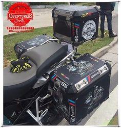 R1200GS ADV Travel Event 2016 Black Side Pannier Case Sticker Decal BMW Motorrad