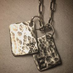 Personalized dog tags with black diamonds