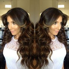 Dark Hair with Caramel Highlights style -if I was allowed to die my hair I'd do this :)