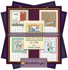 Das Leben ist Büro (Life is Office) Kalender 2017 A4 Blätter (PU,S4H) Scrapbook von SholaWebGraphics auf Etsy
