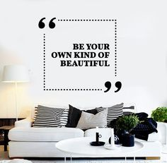 Vinyl Wall Decal Quote Inspiration Girl Room Beauty Salon Stickers (ig3777)